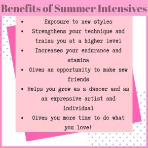 Benefits of Summer Intensives