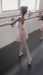 TLFCB student in ballet uniform