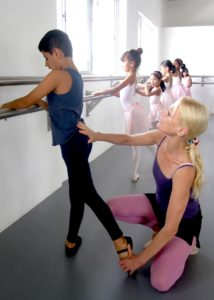 Vivaan Nichani in ballet class