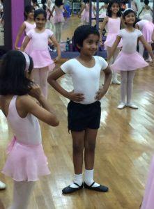 Hrishi Naveen in ballet class