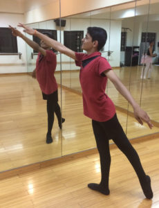 Tejas Venkatesh in arabesque